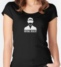 Virtual Realist - White Clean Women's Fitted Scoop T-Shirt