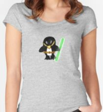 Jedi Penguin Women's Fitted Scoop T-Shirt