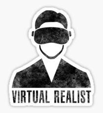 Virtual Realist - Black Dirty Sticker