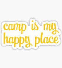 Camp is my Happy Place Sticker Sticker