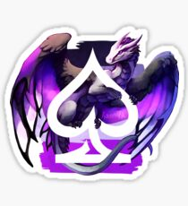Asexual Pride Dragon Sticker