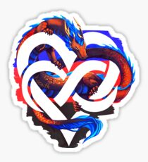 Polyamory Pride Dragon Sticker