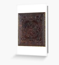 Ancient Leather Book Greeting Card