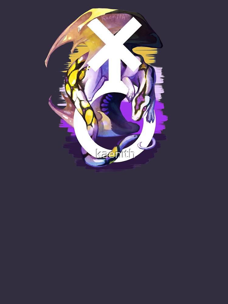 Dragón no binario del orgullo de kaenith