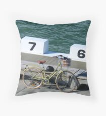Bicycle at Merewether Ocean Baths Throw Pillow