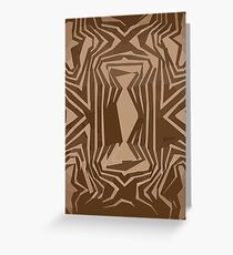 Brown Gold Vector Abstract unique  Greeting Card