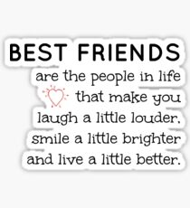 Best Friend quote Sticker