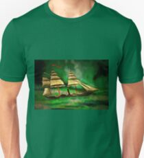 An Early American Sailing Ship/Paddle Steamer T-Shirt