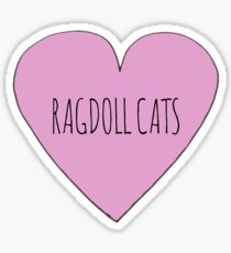 Ragdoll cat love Sticker