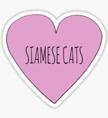 Siamese cat love Sticker