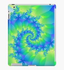 Psychedelic Colorful Spiral Fractal iPad Case/Skin