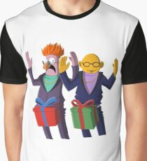 Beaker & Dr Bunsen - Dick in a box Graphic T-Shirt