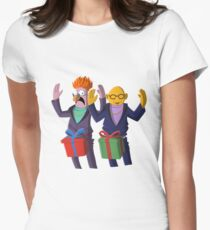 Beaker & Dr Bunsen - Dick in a box Women's Fitted T-Shirt