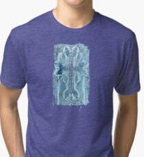 Celtic Blue - JUSTART ©  Tri-blend T-Shirt