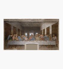Iconic Leonardo Da Vinci Last Supper Photographic Print