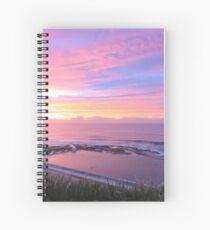 Sunrise over Merewether Ocean Baths Spiral Notebook