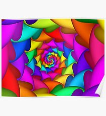 Psychedelic Rainbow Spiral  Poster