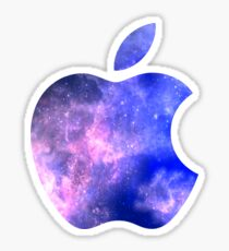 Galaxy Apple Logo Sticker