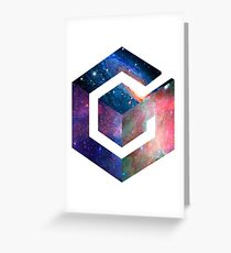 Galaxy GameCube Logo Greeting Card