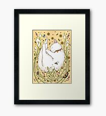 Butterflies and Bees Framed Print
