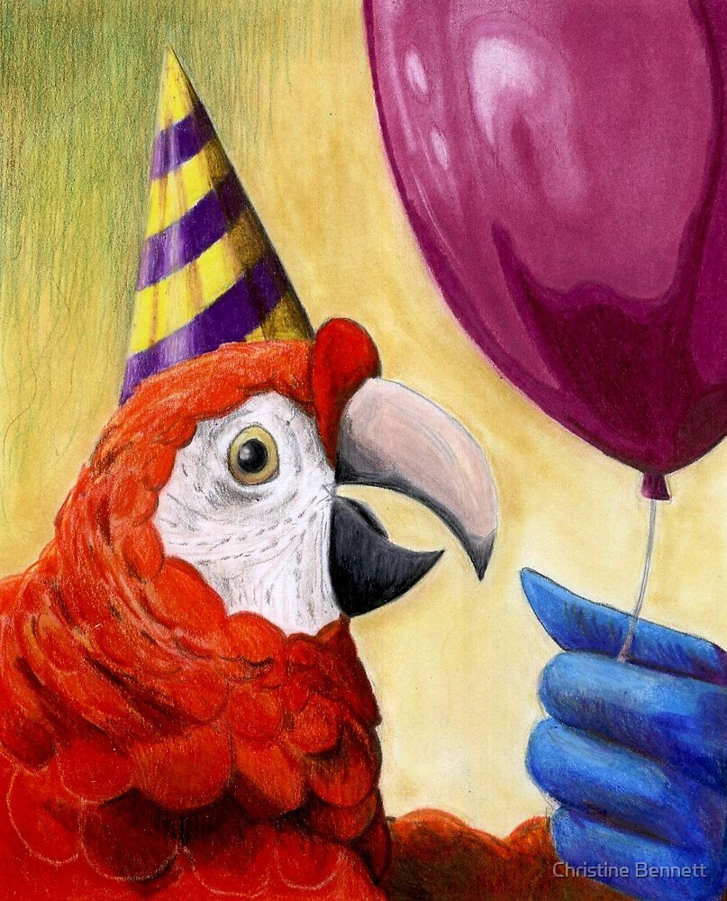 Party Parrot by Christine Bennett