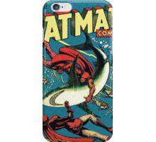 Vintage Golden-age CAT-MAN vs Sharks Comic Book Cover Art RETRO iPhone Case/Skin