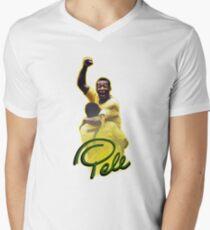 Pele World Cup Brazil Men's V-Neck T-Shirt
