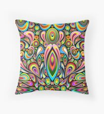 Drops Psychedelic Abstract Pattern   Throw Pillow
