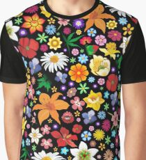 Spring Flowers Pattern Graphic T-Shirt