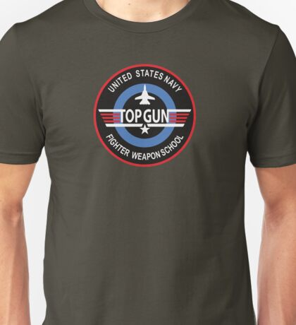 United States Navy Fighter Weapons School Top Gun Insignia Unisex T-Shirt