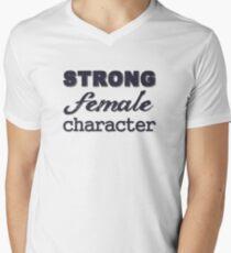 Strong Female Character Mens V-Neck T-Shirt