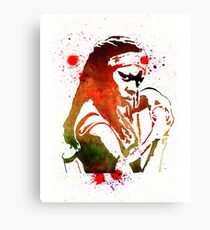 Walking Dead Michonne Stencil Style Canvas Print