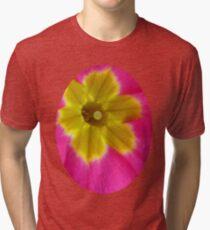 Pink and Yellow Primrose Macro Tri-blend T-Shirt