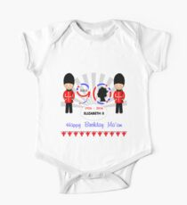 The Queens 90th Birthday Commemorative Design  One Piece - Short Sleeve