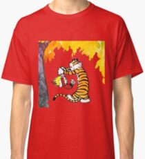 Calvin and Hobbes Playing  Classic T-Shirt
