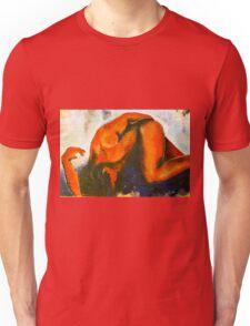 Männlicher Akt, liegend Unisex T-Shirt