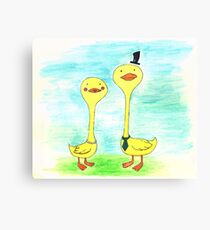 Mr. and Mrs. Duck Canvas Print