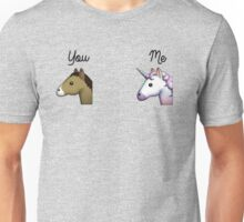 Unicorn emoji me vs you Unisex T-Shirt