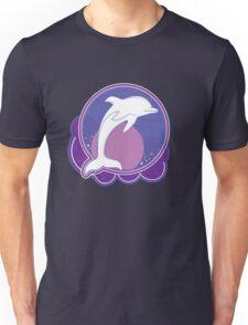 Dolphin Moonlight Magenta Unisex T-Shirt