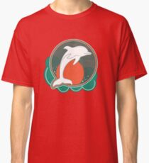 Dolphin Moonlight Red Classic T-Shirt