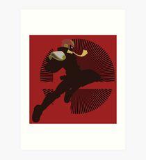 Captain Falcon (Smash 4, Knee of Justice) - Sunset Shores Art Print