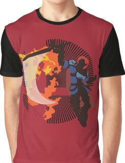 Roy (Smash 4) - Sunset Shores Graphic T-Shirt