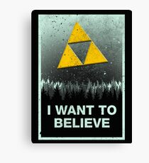 I want to believe in the Triforce Canvas Print
