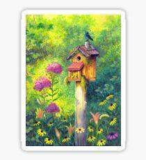 Bird House and Bluebird  Sticker
