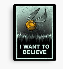 I want to believe in magic Canvas Print