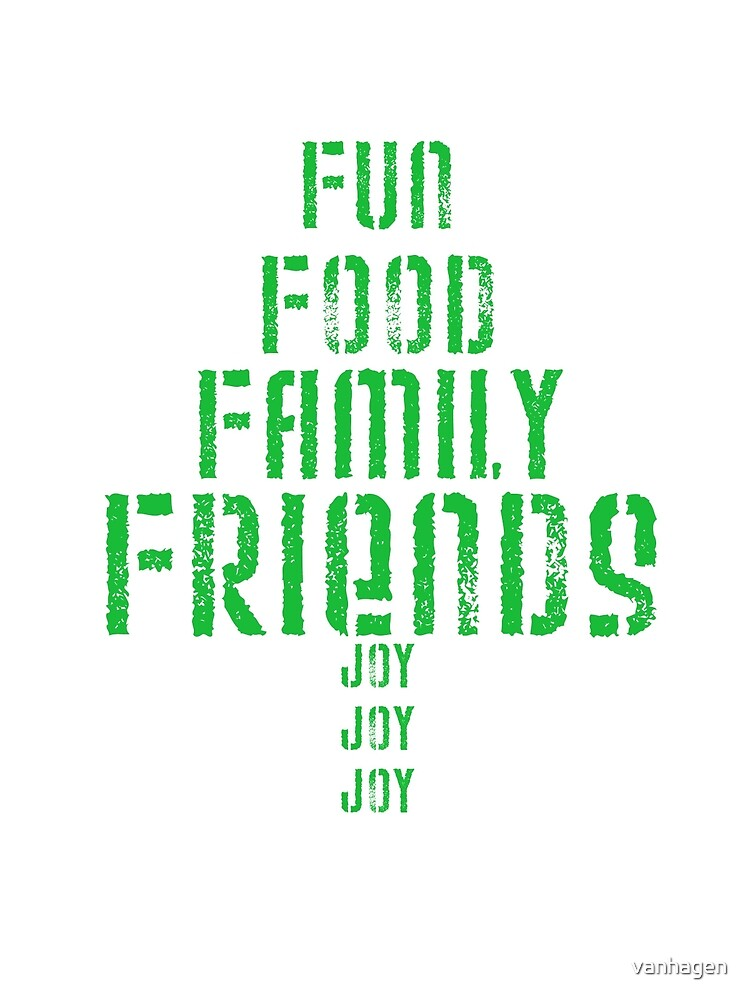 fun food family friends by vanhagen