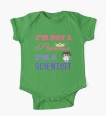 I'm not a Princess I'm a Scientist  One Piece - Short Sleeve