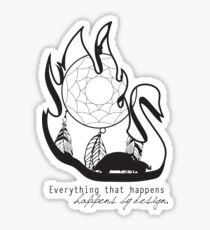 Swanfire - With Quote (Neal & Emma, Once Upon a Time) Sticker