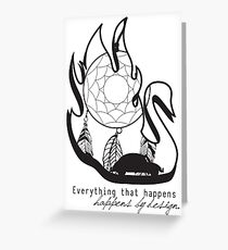Swanfire - With Quote (Neal & Emma, Once Upon a Time) Greeting Card