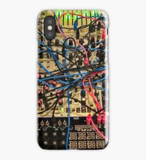 Synthesizer Control Panel Cable Maze iPhone Case/Skin